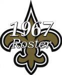 1967 New Orleans Saints Team Roster