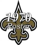 1970 New Orleans Saints Team Roster