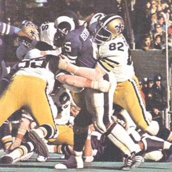 Saints rookie Bob Pollard in 1972