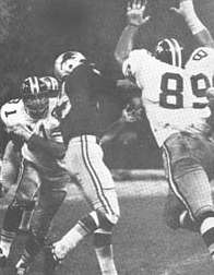 Saints 1969 Defense in Black Helmets