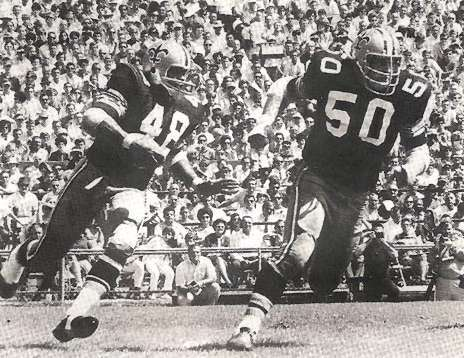 Andy Livingston 1969 New Orleans Saints All Pro Running Back