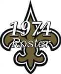 New Orleans Saints 1974 NFL Season Team Roster
