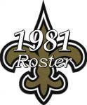 New Orleans Saints 1981 NFL Season Team Roster