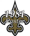 New Orleans Saints 1981 NFL Season Team Roster