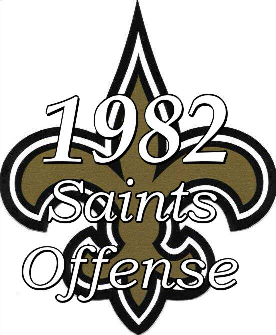1982 New Orleans Saints Offensive Statistics