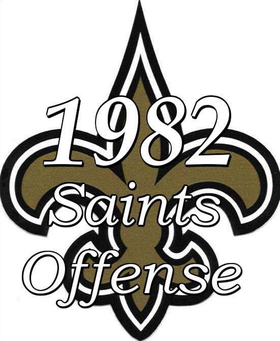 1982 New Orleans Saints Offensive Statistics