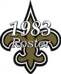 New Orleans Saints 1983 NFL Season Team Roster