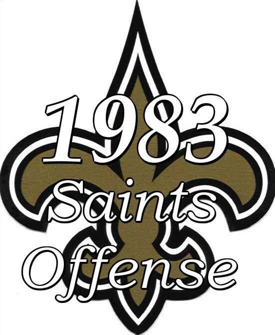 1983 New Orleans Saints Offense