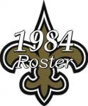 New Orleans Saints 1984 NFL Season Team Roster