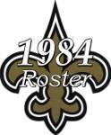 New Orleans Saints 1984 NFL Season Team Roster