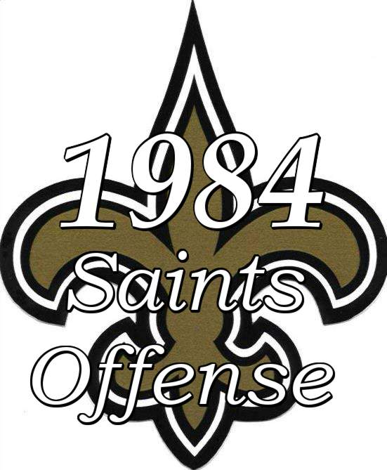1984 New Orleans Saints Offensive Statistics
