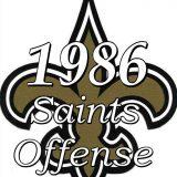 1986 New Orleans Saints Offensive Statistics