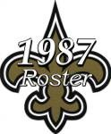 New Orleans Saints 1987 NFL Season Team Roster