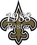 New Orleans Saints 1988 NFL Season Team Roster