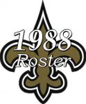 New Orleans Saints 1988 NFL Season Team Roster