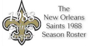 1988 Saints Roster Facebook