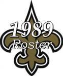 New Orleans Saints 1989 NFL Season Team Roster
