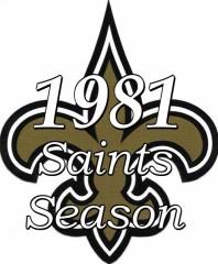 1981 New Orleans Saints NFL Season