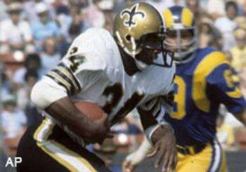 Tony Galbreath of the 1977 New Orleans Saints