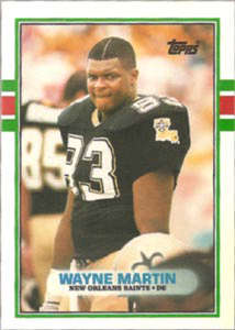 Wayne Martin Rookie Card