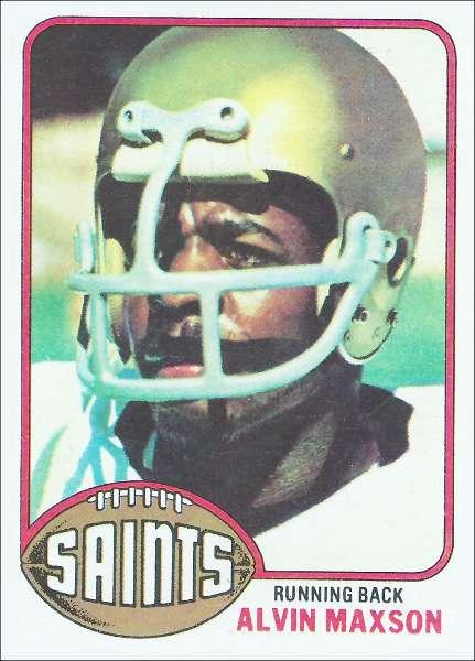 Alvin Maxson 1976 New Orleans Saints Topps card