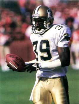 Brett Maxie, New Orleans Saints Free Safety in 1988