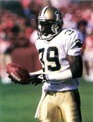 Brett Maxie, New Orleans Saints Free Safety in 1988
