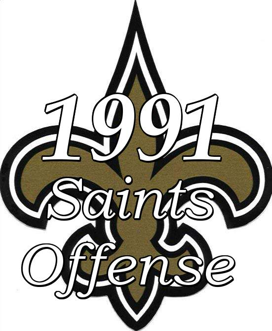 The 1991 New Orleans Saints Offensive Statistics