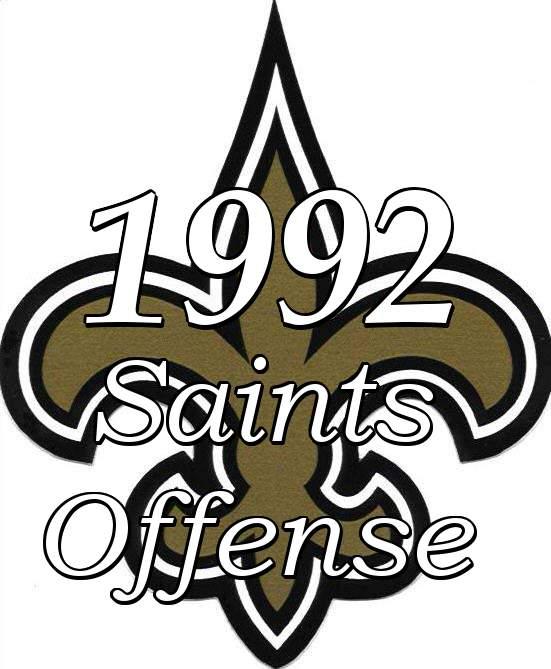 1992 New Orleans Saints Offense