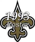 New Orleans Saints 1993 NFL Season Team Roster