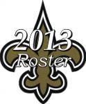 New Orleans Saints 2013 NFL Season Team Roster