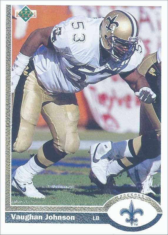 Vaughn Johnson 1991 New Orleans Saints