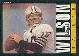 Dave Wilson New Orleans Saints Topps 1985 Trading Card