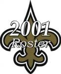 New Orleans Saints 2001 NFL Season Team Roster