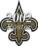New Orleans Saints 2002 NFL Season Team Roster