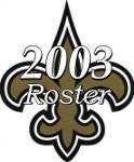 New Orleans Saints 2003 NFL Season Team Roster