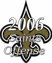 2006 New Orleans Saints Offense