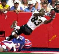 Albert Connell game winning catch against Buffalo, New Orleans Saints 2001 season