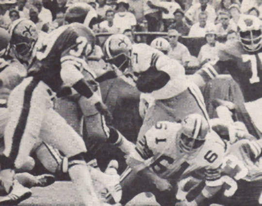 Bob Gresham of the 1971 New Orleans Saints