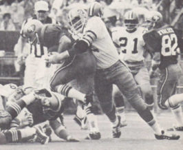Rookie Bob Pollard sacks John Brodie - 1971 New Orleans Saints