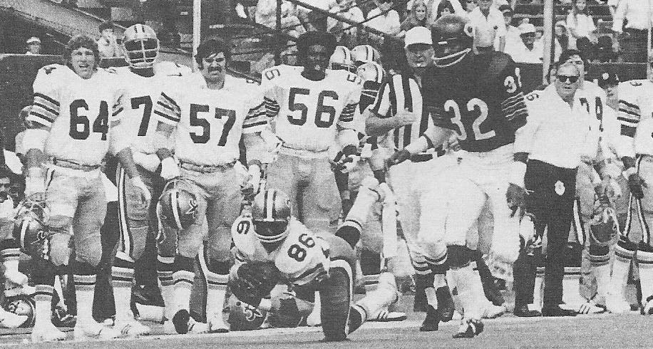 New Orleans Saints Receiver Jubilee Dunbar makes a grab against the Chicago Bears in 1973 NFL action