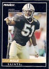 Sam Mills of the New Orleans Saints Dome Patrol