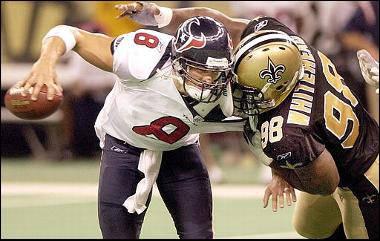 Willie Whitehead sacks David Carr 2003 New Orleans Saints