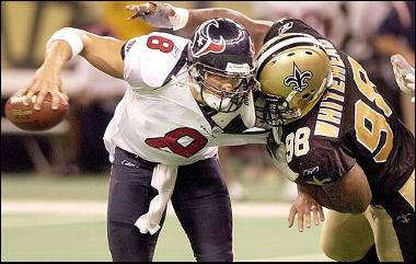 Willie Whitehead sacks David Carr 2003 New Orleans Saints