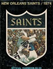1974 New Orleans saints Yearbook