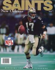 New Orleans Saints Quarterback Jim Everett on 1995 Saints Yearbook