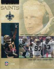 2001 New Orleans Saints Yearbook