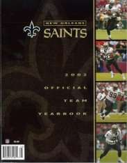 2002 New Orleans Saints Yearbook