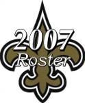 2007 New Orleans Saints NFL Season Team Roster