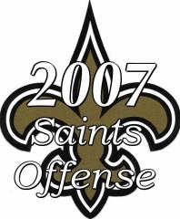 2007 New Orleans Saints Offense